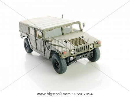 Isolated army hummer