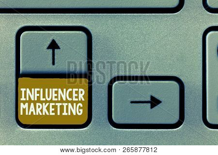 Conceptual Hand Writing Showing Influencer