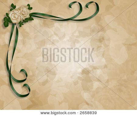 Soft Roses Parchment Wedding Invitation