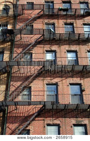 Boston Brownstone Fire Escapes