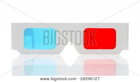 3d glasses isolated over white