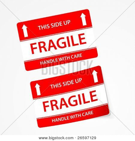 Vector fragile stickers