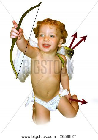Cupid Pointing No Background