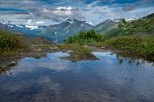 Small Pond Along The Trail Of '98 Off The Richardson Highway Near Valdez Alaska. This Was An Origina poster