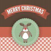 Постер, плакат: Оленей Рождественская открытка