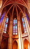 picture of stained glass  - Arched ceiling with stained glass windows Berlin Germany - JPG