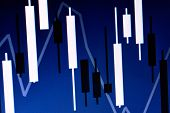 Financial Chart Japanese Candles. Stock Chart, Charts poster