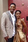 LOS ANGELES - el 7 de junio: Jada Pinkett Smith y Will Smith en la premiere de 'The Karate Kid' en el M