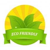 stock photo of environmentally friendly  - Eco Friendly Icon - JPG