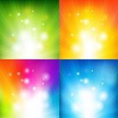foto of asymmetrical  - 4 Color Backgrounds With Beams - JPG