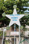 Propaganda In El Cobre Village, Cuba. It Says: Eternal Glory To The Heroes Of The Fatherland. poster