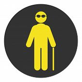 Blind Person Symbol. Isolated On White Background. Vector. poster