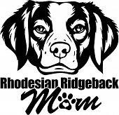 Animal Dog Rhodesian Ridgeback 6T6Ft Mom.eps poster