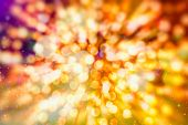 Bokeh Abstract Texture. Colorful. Defocused Background. Blurred Bright Light. Circular Points. poster