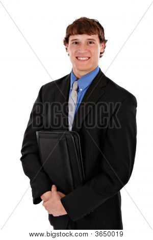 Confident Handsome Young Salesman Standing