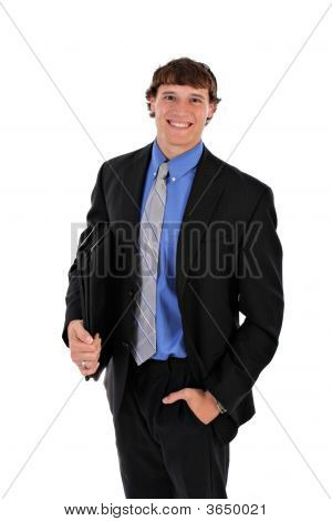 Confident Handsome Young Businessman Portrait