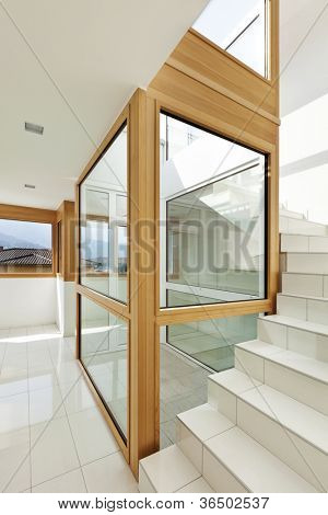 interior, stairwell of a modern home