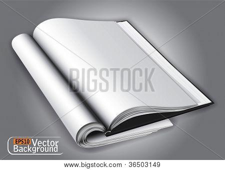Open magazine layout.vector