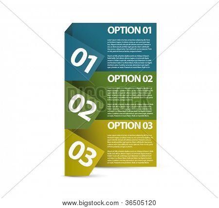 Vector Papier Fortschritt Background / Produktauswahl oder Versionen