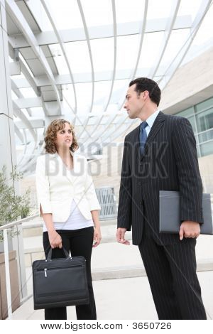 Man And Woman Business Team At Office