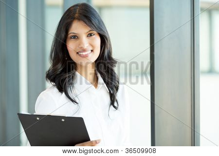pretty young female office worker portrait