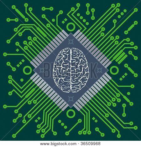 CPU - computer brain.