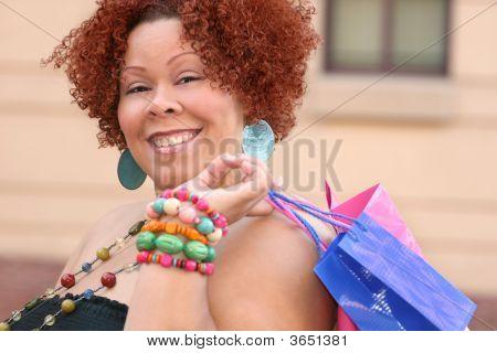 Plus Size Model Shopping, Happy