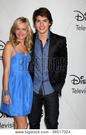 LOS ANGELES - AUGUST 1:  Britt Robertson & Gregg Sulkin arrive(s) at the 2010 ABC Summer Press Tour Party at Beverly Hilton Hotel on August 1, 2010 in Beverly Hills, CA.