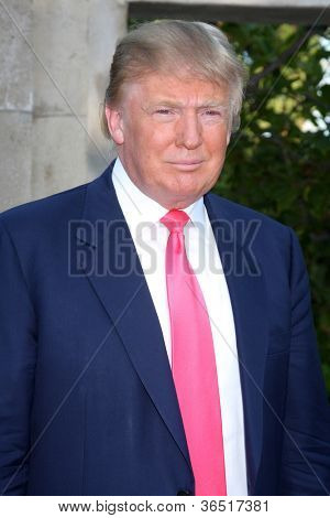 LOS ANGELES - JUL 24:  Donald Trump arrives at  the 12th Annual HollyRod Foundation DesignCare Event at Ron Burkle's Green Acres Estate on July 24, 2010 in Beverly Hills, CA .