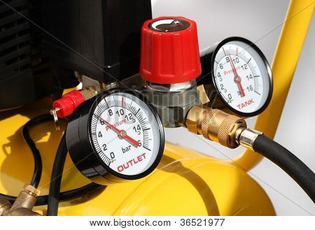 Pressure Meters Closeup