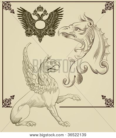 Griffin.Hand drawing set