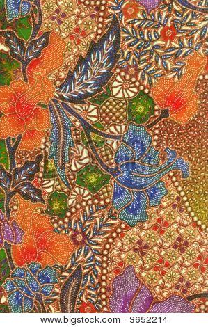 Orange Floral Batik Sarong