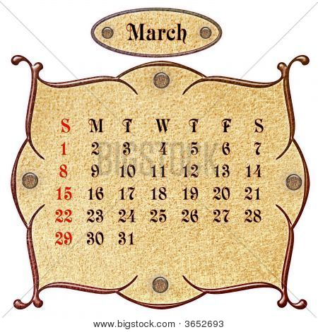 The Month Of March.