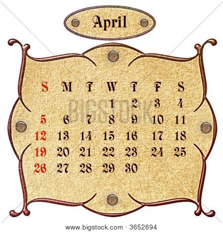 The Month Of April.