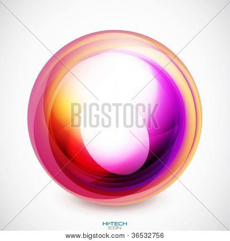 Abstract swirl motion design. Raster version of my vector illustration
