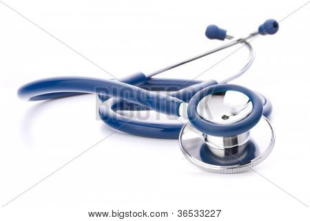 Medical stethoscope or phonendoscope isolated on white background cutout