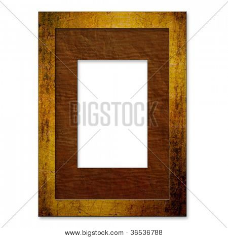 art photo frame, isolated on white background