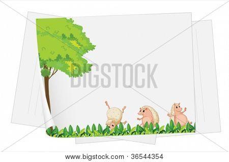 illustration of badger on a white paper