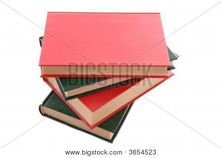 Books Stacked With A Hard Cover