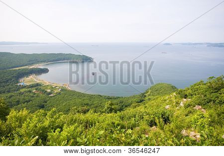 Nakhodka Bay. Russia. Primorsky Kray. Japan sea. Morning.