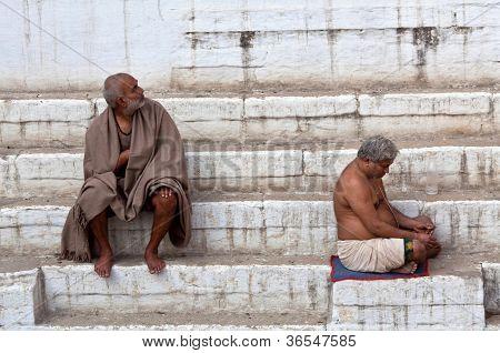 hindu pilgrim in Varanasi, India
