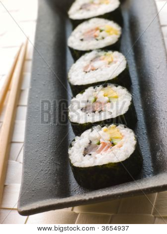 Large Spiral Rolled Sushi