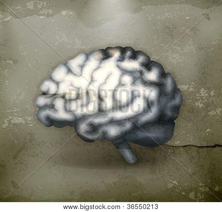 Menschliche Gehirn, Mediäval Vektor