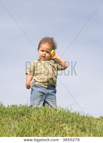 Boy With A Cellphone