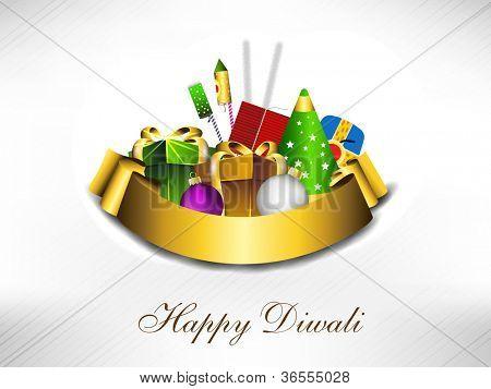 Fundo bonito para a comunidade Hindu festival Diwali ou Deepawali na Índia com presentes e firecr