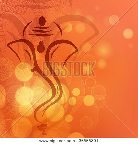 Ilustración brillante creativo del Señor hindú Ganesha. EPS 10.