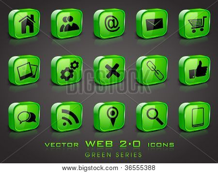 3D web 2.0 mail icons set. Can be used for websites, web applications. email applications or server Icons.
