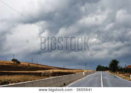 Road In Stormy Wether