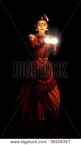 Dançarina de Mohinyattam, Índia