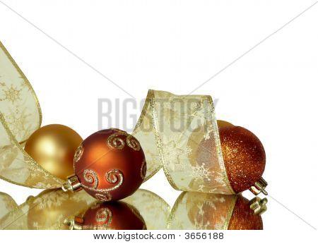 Corner Christmas Ribbons And Balls